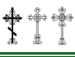 Кованые кресты на могилу фото и цены в Томске.