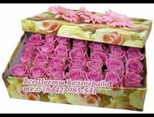 Коробочка с цветами розами (28 роз)