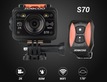 Soocoo S70. 2K экшен камера. 16 Мп. Novatek NTK96660. WiFi. Водонепроницаемость до 60 м. Пульт управления.