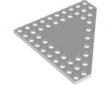 Wedge, Plate 10 x 10 Cut Corner with no Studs in Center, White (92584 / 4597124 / 6119561)