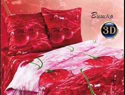 Вишня.  Комплект постельного белья из набивной бязи традиции текстиля, цельнокройное, хлопок 100%