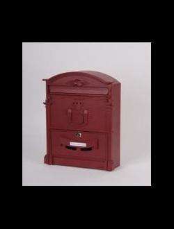 Почтовый ящик красный