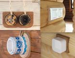 Накладки на бревно для розеток и выключателей