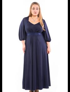Нарядное платье макси 317-Lux (темно-синий) Размеры: 66-68. ТМ Лакшери