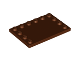 Tile, Modified 4 x 6 with Studs on Edges, Reddish Brown (6180 / 4225711 / 4508618 / 4585629 / 6075218)