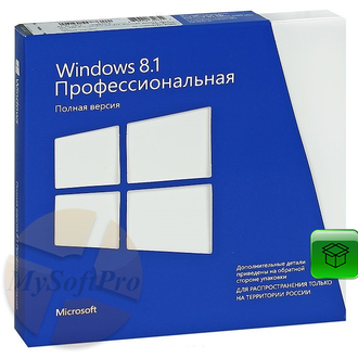 Microsoft Windows 8.1 Professional BOX 32/64 Bit. rus COA FQC-07349