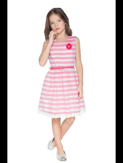 Платье д/девочек ягодный полосатый