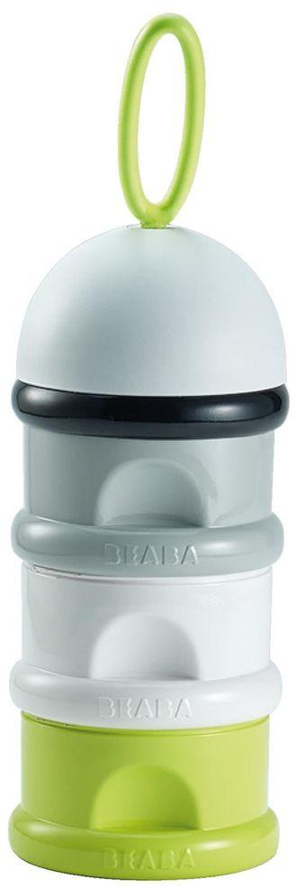 Контейнер для сыпучих смесей Beaba Stacked formula milk container Neon