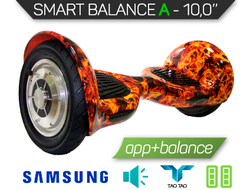 "Гироскутер 10"" Smart Balance OFF ROAD NEW 2017 Желтый огонь"
