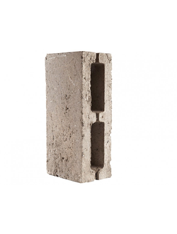 Блок керамзитобетонный перегородочный двухпустотный М50 390х120х190