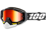 Очки 100%  RACECRAFT BLACK/GRAY SNOW MIRROR RED LENS