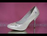 Свадебные туфли айвори стразы вышивка бисер средний каблук серебренные женские бисер женские купить