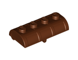 Container, Treasure Chest Lid - Thick Hinge, Reddish Brown (4739a / 4211163)
