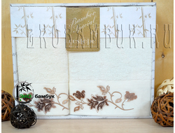 Полотенца бамбуковые с тафтингом (70х140 и 50х90)