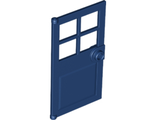 Door 1 x 4 x 6 with 4 Panes and Stud Handle, Dark Blue (60623 / 6186576)