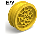 ! Б/У - Wheel 43.2mm D. x 18mm extended axle stem, Yellow (32020 / 4543768) - Б/У