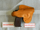 Russian authentic leather belt wide holster PM, MP-654K, Makarov, Walther PPK RED