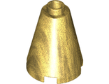 Cone 2 x 2 x 2 - Completely Open Stud, Pearl Gold (3942c / 6058391 / 6092672)