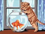 золотая рыбка 30х40