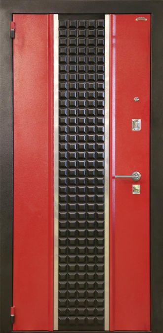 стальные двери стильные красные