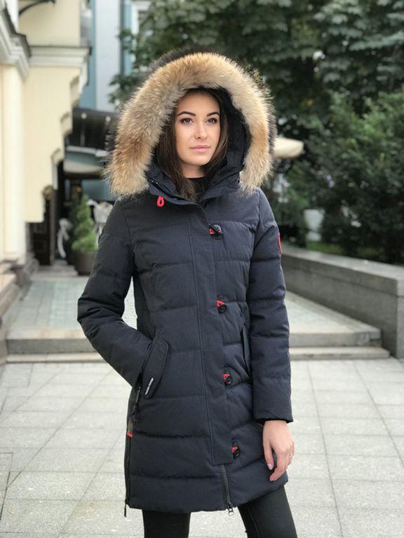 Женские пуховики и парки - CANADA GOOSE женская куртка 1625 синий 0171f04dc80