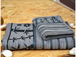 Бамбуковое полотенце Спорт класса стальной 68х136