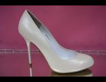 Свадебные вечерние туфли кожаные классические айвори бежевые каблук шпилька где купить магазин салон