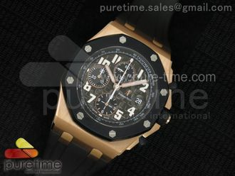 Royal Oak Offshore Rubberclad RG Grey Dial on Rubber Strap
