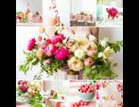 шикарное свадебное оформление розовый фламинго