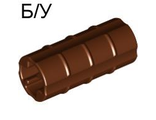 ! Б/У - Technic, Axle Connector 2L Ridged with x Hole x Orientation, Reddish Brown (6538b / 4211314) - Б/У