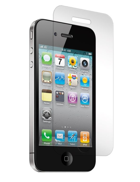 ������� �������� ������ Tempered glass 9h, 0,26 mm (iPhone 4/4S)
