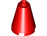 Cone 2 x 2 x 2 - Completely Open Stud, Red (3942c / 4200493 / 4519907 / 4528786 / 6022147 / 6056297)