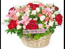 Корзина Радуга роз
