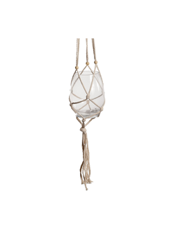 Подвесной декор HANGING BALL ANTOLIA D11XH15CM COTTON+GLASS арт. 30955