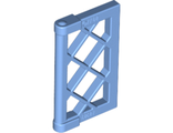Window 1 x 2 x 3 Pane Lattice with Thick Corner Tabs, Medium Blue (60607 / 4624986 / 6147320)