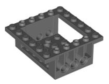 Cockpit 6 x 6 x 2 Cabin Base with Technic Holes, Dark Bluish Gray (47507 / 4209726)