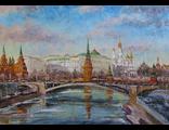 """Круглова Светлана. """"Московская весна"""",  холст / масло,  50 х 70 см.,  2016 г."""
