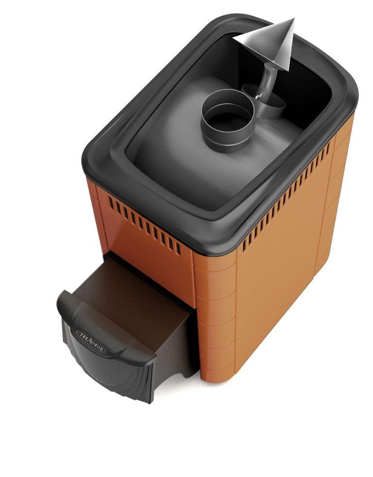 Печь ангара 18 теракота/шоколад с теплообменником чертеж горизонтальный кожухотрубный теплообменник