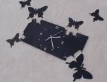 """Настенные часы """"Порхающие бабочки"""" (прямоугольный циферблат)"""