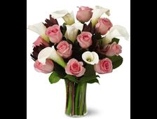 букет из калл и роз