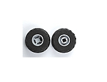 Wheel 11mm D. x 12mm, Hole Notched for Wheels Holder Pin with Black Tire 24 x 12 R Balloon 6014b / 56890, Light Bluish Gray (6014bc04)