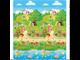 Двусторонний Детский развивающий коврик Mambobaby Дети в парке+Лунапарк