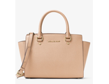 Сумка Michael Kors Selma Medium Oyster / Пудровая