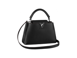 Louis Vuitton Capucines Black Small