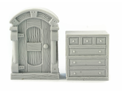 Cupboard and dresser (unpainted)