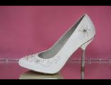 Свадебные туфли белые стразы серебро каблук пайетки мелкий бисер купить в Москве кожаные модные фото