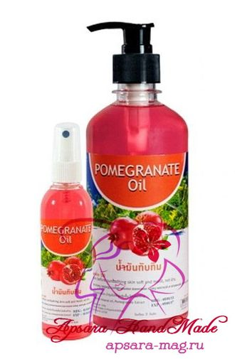 "BANNA Pomegranate Oil / Массажное масло ""Гранат"" (120 мл / 250 мл / 450 мл)"