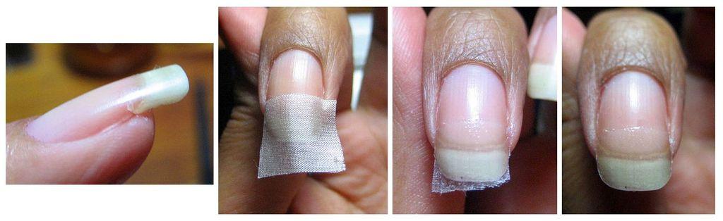 Ногти с шелком