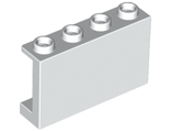 Panel 1 x 4 x 2 with Side Supports - Hollow Studs, White (14718 / 6079140)
