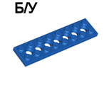 ! Б/У - Technic, Plate 2 x 8 with 7 Holes, Blue (3738 / 373823) - Б/У
